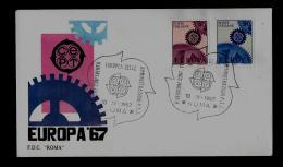 FDC  -EUROPA CEPT  - 1967  -   ITALY - 1967