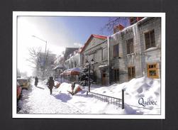 QUÉBEC - VILLE DE QUÉBEC - RESTAURANT AUX VIEUX CANONS SUR GRANDE ALLÉE EN HIVER - 17x12cm - 6¾x4¾po -  PHOTO FOTOMANIA - Québec - La Cité