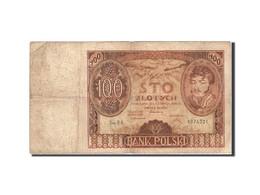 Pologne, 100 Zlotych, 1939, 1932-06-02, KM:89, B - Pologne