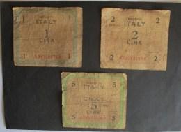 Italia 1943 AM Lire 1 - 2 E 5 - [ 3] Military Issues