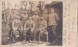 Foto Deutsche Soldaten 1.Weltkrieg Argonnen Argonnenwald XVI.AK1915 Landwehr Infanterie Regiment 27 LIR27 - Krieg, Militär