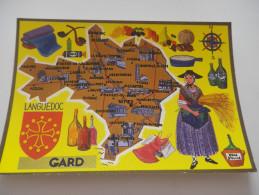 GARD - Carte Géographique - CAP THEOJAC - France