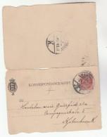 1897 DENMARK  TPO Pmk 'KJOBENHAVN 2 OMB K' On Horsens POSTAL STATIONERY LETTERCARD Cover Stamps Railway Train - 1864-04 (Christian IX)