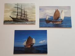 VOILIER RUSSE KRUSENSHTERN ET JONQUE ( LOT DE 3 CP ) BATEAUX  TRES BON ETAT ! ! ! - Schiffe