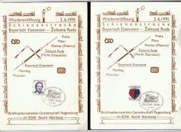 Czechoslovakia Zelezna Ruda 1991 / NsteinMarkt Eise- Bayerisch Eisenstein / Train, Railway, Locomotive, Eisenbahn - Eisenbahnen