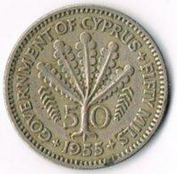 Cyprus 1955 50 Mils - Cyprus