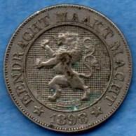 R9/  BELGIQUE / BELGIUM  10 Cents Dutch Légende 1898 - 1865-1909: Leopold II