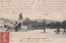 G , Cp , 46 , CAHORS , Le Monument Gambetta - Cahors