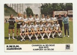I 402   MOLENBEEK  CHAMPION DE BELGIQUE 1974-1975 - Fútbol