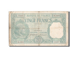 France, 20 Francs, 20 F 1916-1919 ''Bayard'', 1917, 1917-12-05, KM:74, TB, Fa... - 1871-1952 Circulated During XXth