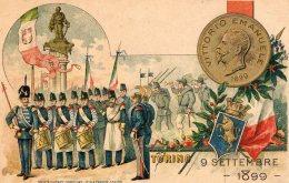 [DC9700] CPA - VITTORIO EMANUELE 1899 - TORINO 9 SETTEMBRE 1899 - Non Viaggiata - Old Postcard - Uomini Politici E Militari