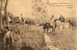 [DC9701] CPA - INCONTRO DI GARIBALDI CON VITTORIO EMANUELE A CAJANELLO (TEANO) - Non Viaggiata - Old Postcard - Histoire