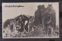 S57 /    Foto AK Radinghem B. Armentieres Zerstörte Kirche 1917 - Armentieres