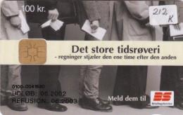 Denmark, DD 212K, Bs Tidsroevere, Only 4.955 Issued, 2 Scans. - Dänemark