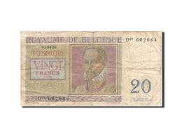 Belgique, 20 Francs, 1948-1950, KM:132b, 1956-04-03, TB - [ 6] Treasury