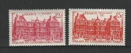 "FR YT 803 & 804 "" Palais Du Luxembourg "" 1948 Neuf* - France"