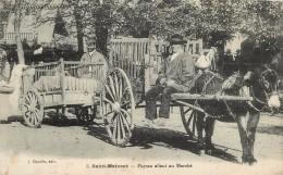 SAINT MAIXENT - Paysan Allant Au Marché (avec Un âne). - Anes
