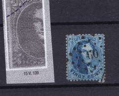 N° 15 A VARIETE 139 TIRETS Coin Sup. . Gauche - 1863-1864 Medaillen (13/16)