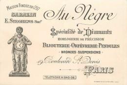 PARIS - Au Nègre Bijouterie Orfèvrerie;19 Boulevard Saint Denis; Carte Format 12,5x8,5cm. - Arrondissement: 10