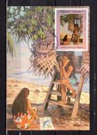 """POLYNESIE 1992 : Carte Maximum """" FARE TAMARII D'E. LUX / PAPEETE 09.12.1992 """" N° YT 422. Parfait. état. CM - Cartes-maximum"""