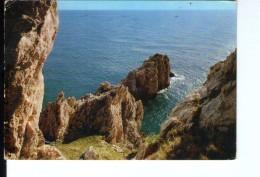 Q3553 Cartolina Del Lazio, SPERLONGA ( Latina ) Scogliera _ VIAG. 1987  _ Ed. Gm Naturals Colours SP13/16 - Altre Città