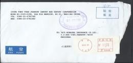 Nanging China Meter Mark Air Mail Postal Used Cover Nanging To Pakistan - 1949 - ... Volksrepubliek