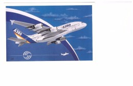 Avion Aviation Airbus A380 A.380 Premier Vol Carte Non Voyagée - 1946-....: Ere Moderne
