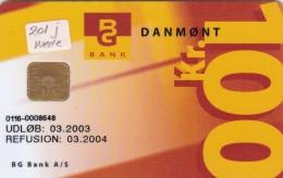 Denmark, DD 201J (Serial Number Bottom), 100 Kr, Bg Bank Økonomi-eftersyn 2.edition,10050 Issued (for J+Ja), 2 Scans.  . - Danemark