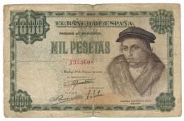 Spain 1000 Pts. 1946, G. Free Ship. To USA - [ 3] 1936-1975 : Regency Of Franco