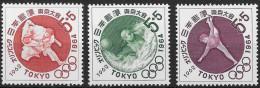 JAPON JAPAN 713 à 715 ** MNH JO Tokyo 1964 Judo Water Polo Gymnastique (CV 6 €)