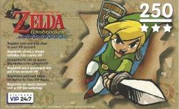 CARTE VIP GAMECUBE ZELDA THE WINDWAKER GRATTEE - Nintendo GameCube