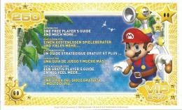 CARTE VIP GAMECUBE MARIO A ECHANGER POUR UN GUIDE STRATEGIQUE NON GRATTEE - Nintendo GameCube