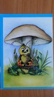 BUTTERFLY. Old Postcard 1970s - Mushroom / Champignon - Champignons