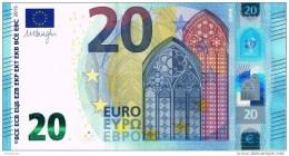 VF NOTA 20 EUROS DA ALEMANHA  RA  R013  A2. UNC  DRAGHI    RB 3104275649 - EURO