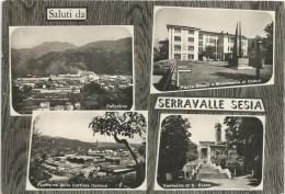 Serravalle Sesia Saluti Da Fg. V.1966 (francobollo Asportato) - Vercelli