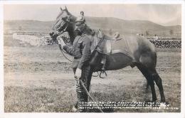 BATTLE FIELD CUSTER AMERICA COMANCHE CAPT LE DERNIER CHEVAL DE CETTE BATAILLE HORSE CARTE PHOTO - Photos