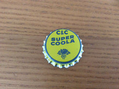 """Ancienne Capsule De Soda """"C&C SUPER COOLA - NARROWS"""" Etats-Unis (USA) Intérieur Liège - Soda"""