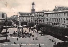 """04881 """"CAGLIARI - PIAZZA DEL CARMINE E PALAZZO DELLE POSTE"""" ANIMATA, VERA FOTOGRAFIA. CART  SPED 1955 - Cagliari"""