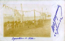 59  LILLE  FOIRE EXPOSITION DE LILLE CARTE PHOTO 1902 - Lille