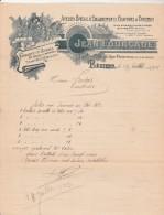 Lettre 25/7/1923 Jean FOURCADE Encadrements Gravures Chromos Pièges Ratières BEZIERS Hérault - 1900 – 1949