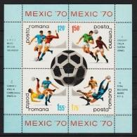 RUMANIA 1970 - CAMPEONATO DEL MUNDO DE FUTBOL MEXICO 70 - YVERT BLOCK Nº 76 - 1970 – Mexico