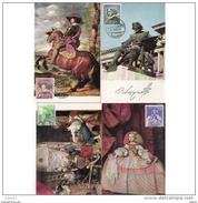ESTMX1344STV-LFTAN.Spain,Espagne,TARJETAS MAXIMAS.Pintura.Pintor.VELAQUEZ.Matasello Del 1º Dia.1960 (Ed 1344/7). - 1951-60 Nuevos & Fijasellos