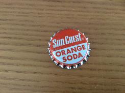 "Ancienne Capsule De Soda ""Sun Crest ORANGE SODA - ATLANTA"" Etats-Unis (USA) (intérieur Liège) - Soda"