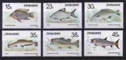 Zimbabwe Complete Set Of Stamps Issued To Celebrate Fish. - Zimbabwe (1980-...)