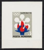RUMANIA 1971 - OLYMPICS SAPPORO 72 - YVERT BLOCK Nº 92