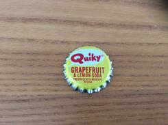 """Ancienne Capsule De Soda """"Quiky GRAPEFRUIT & LEMON SODA"""" WHS Etats-Unis (USA) (intérieur Liège) - Soda"""