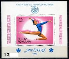 RUMANIA 1976 - OLYMPICS MONTREAL 76 - YVERT BLOCK Nº 126 - Verano 1976: Montréal