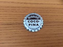 """Ancienne Capsule De Soda """"Mission COCO-PINA"""" WHS Etats-Unis (USA) (intérieur Liège) - Soda"""