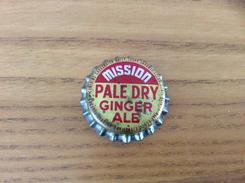 """Ancienne Capsule De Soda """"Mission PALE DRY GINGER ALE"""" Couronne Etats-Unis (USA) (intérieur Liège) - Soda"""