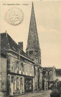 - Ref -M275 - Allier - Ygrande - L Eglise - Magasin - Magasins - Correspondance Emile Guillaumin - Ecrivain - - France